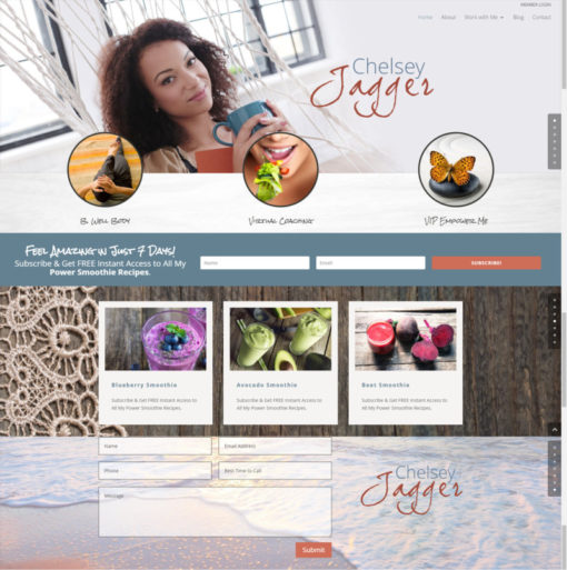 best health coach websites designs